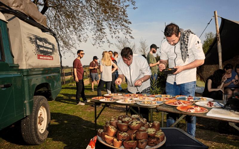 Gave kookbelevingen tijdens de Land Rover Safari